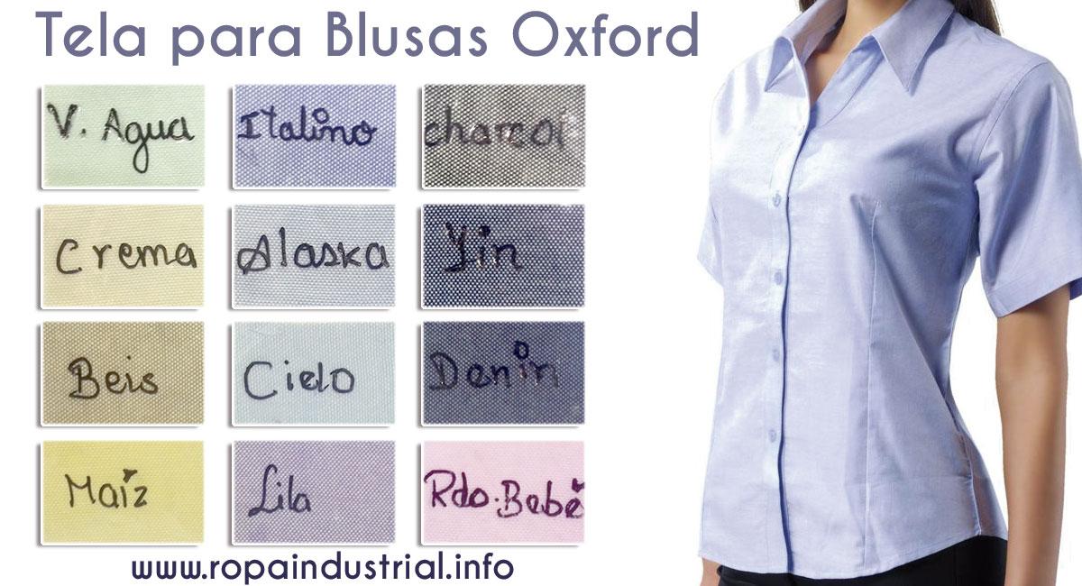 Blusas en Tela Oxford Colores